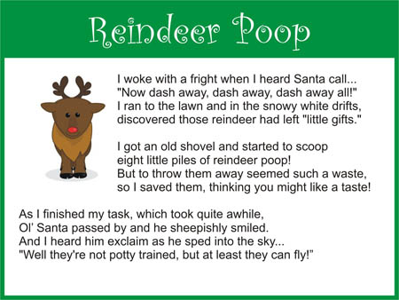 "Recipe for ""Reindeer Poop"""