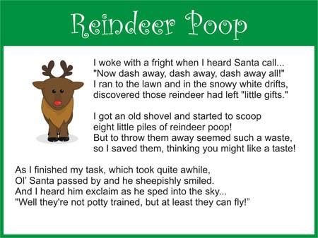 Recipe for reindeer poop