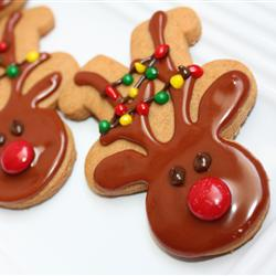 Cute Reindeer Cookies from Gingerbread Cookie Cutters
